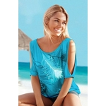 tee-shirt bleu turquoise