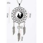 collier attrape reves yin yang cheval1