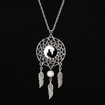 collier attrape reves yin yang cheval