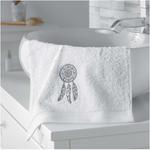 serviette main blanche