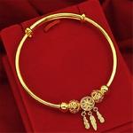 bracelet couleur or charme