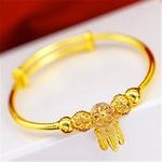 bracelet couleur or charmes