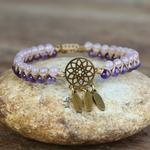 bracelet violet et blanc dreamcatcher4