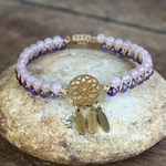 bracelet violet et blanc dreamcatcher3