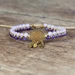 bracelet violet et blanc dreamcatcher2