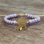 bracelet violet et blanc dreamcatcher1