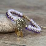 bracelet violet et blanc dreamcatcher