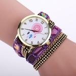 montre quartz violet