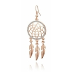 boucles doreille or rose