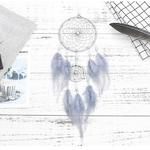 Attrapeur-de-r-ves-Simple-regardant-le-ciel-toil-capteur-de-r-ves-plume-indienne-accessoires