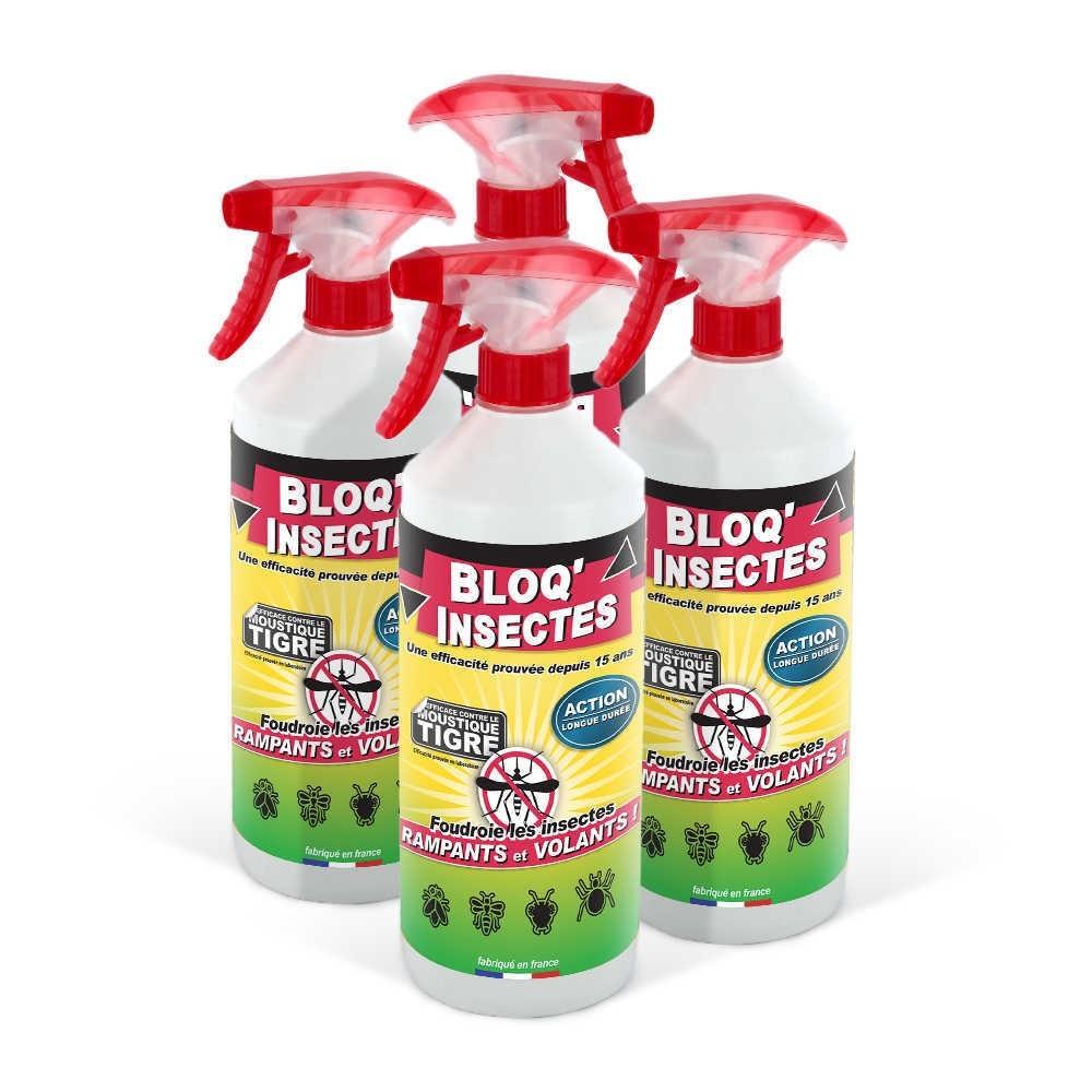 Bloq Insectes 4x1L avec 4 Pulvérisateurs et 4 bouchons