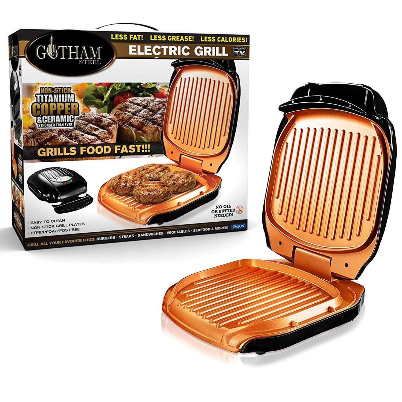 GOTHAM GRILL - Grill Electrique avec revêtement Céramique Titane antiadhérent