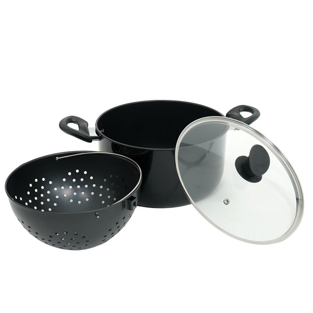 Magic Pot Maker - Faitout 25 cm avec passoire pivotante intégrée et revêtement antiadhésif