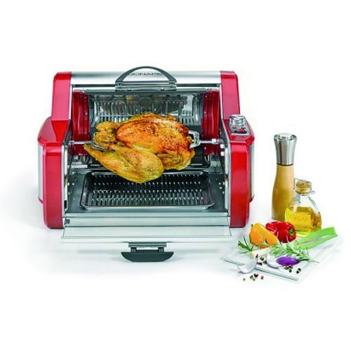 CucinaPro Multi Grill Rotisserie Maison Pro 1200W - Mini Four – Cuisson Vertical ou Horizontal pour Poulets, Kebabs, Gyros, Brochettes