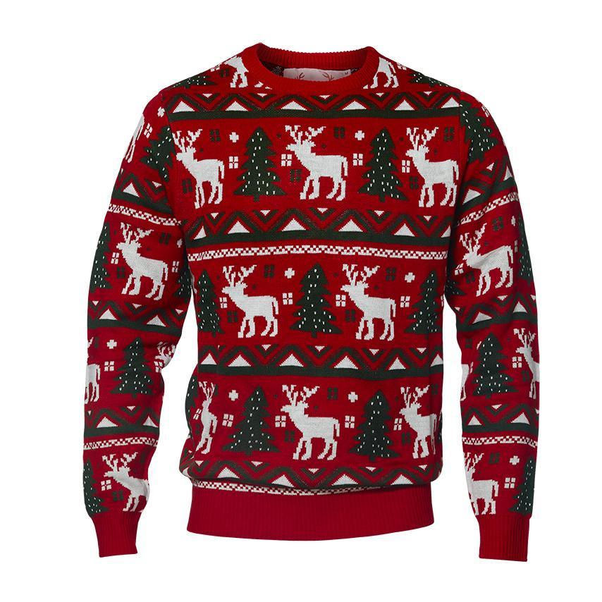 Pull de Noël Le renne et le sapin