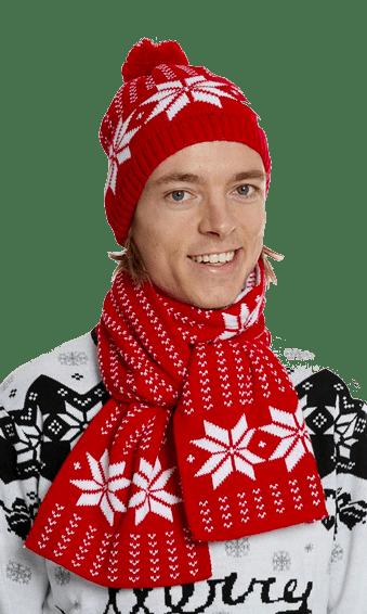 Kit écharpe moche et bonnet moche de Noël
