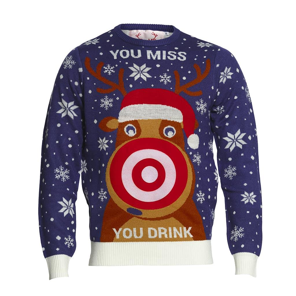Pull de Noël Tu rates, tu bois