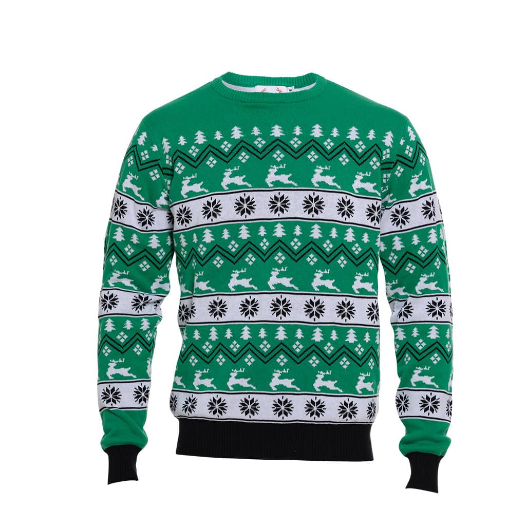 Pull de Noël Au vert