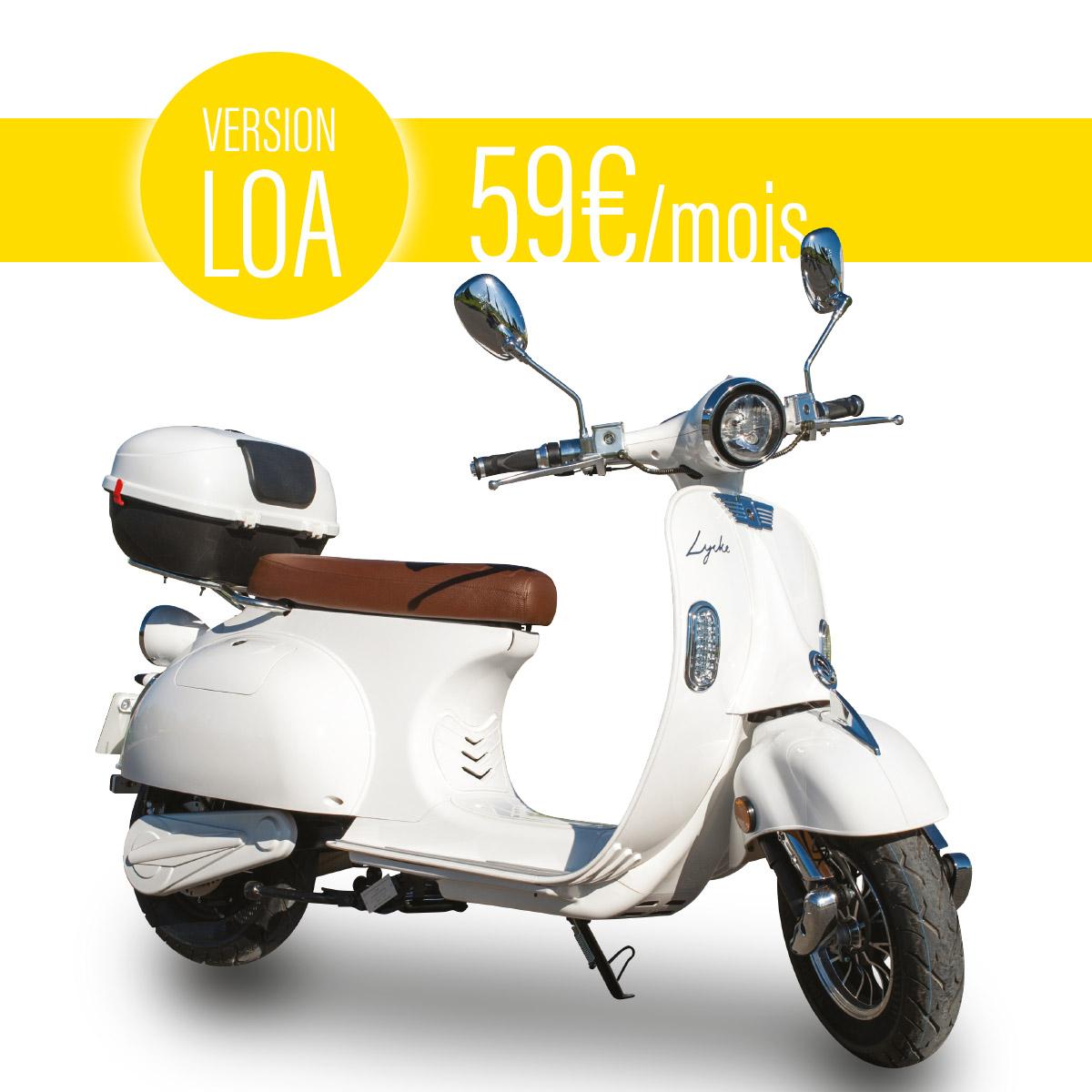Scooter électrique Lycke Rétro 50 | Version LOA