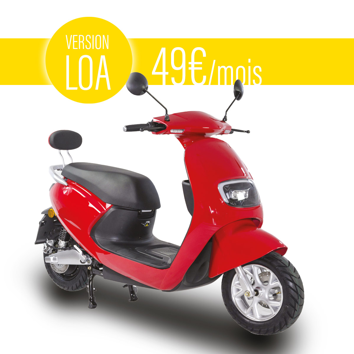Scooter électrique Lycke Classic 50 | Version LOA