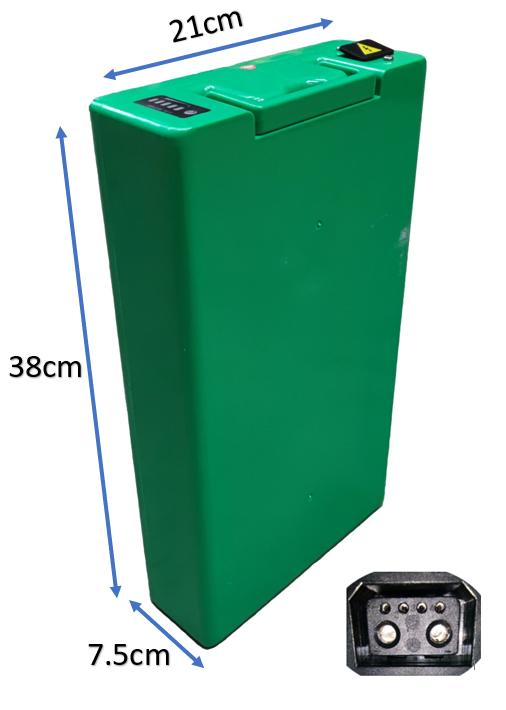 Batterie amovible 60V20Ah pour Scooter électrique Lycke Retro50 et Classic50