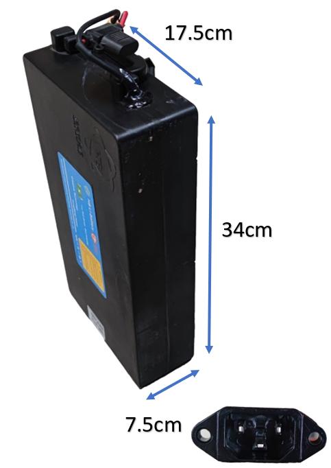 Batterie amovible 60V20Ah pour Moto électrique Azur Scooter EMV1