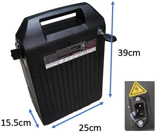 Batterie amovible 60V20Ah et 60V40Ah pour Scooter électrique Azur Scooter Sun50