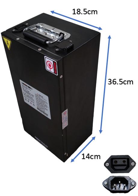 Batterie amovible 60V20Ah pour Scooter électrique Ride50
