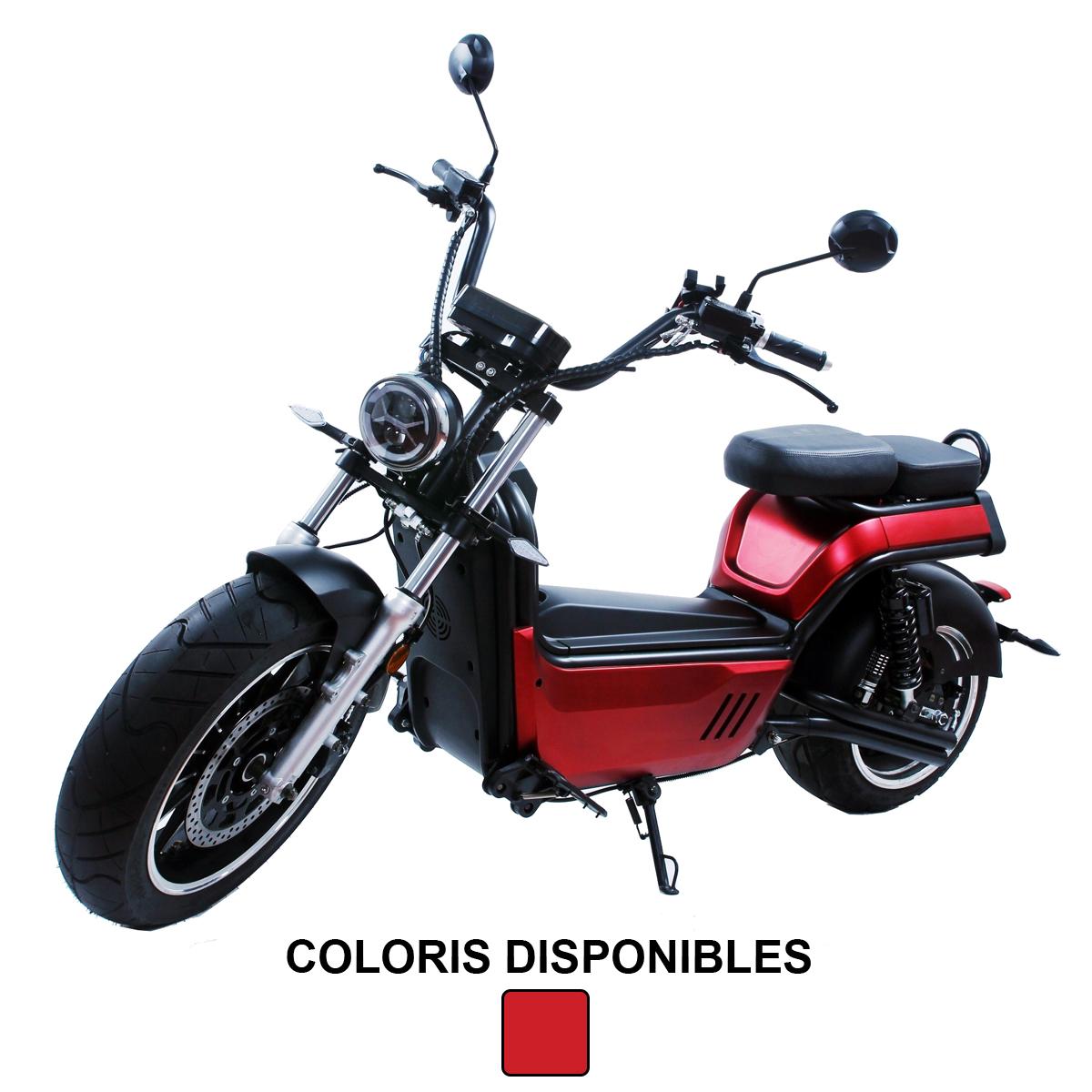 Azur Scooter électrique Luqi HL5 rouge - 80 km/h