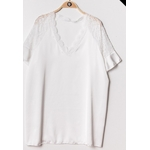 blouse satinee blanche