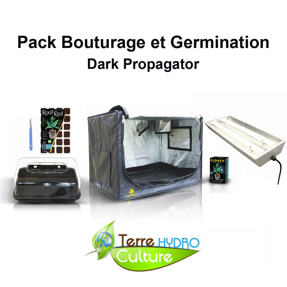 Pack bouturage indoor kit de culture discount growshop - Pack chambre de culture ...