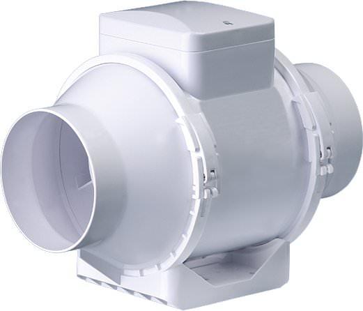 extracteur de gaine ttrv 100mm 2 vitesses 150 190m3 gestion du climat extracteur. Black Bedroom Furniture Sets. Home Design Ideas