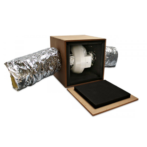 caisson d 39 insonorisation pour extracteur 150mm. Black Bedroom Furniture Sets. Home Design Ideas