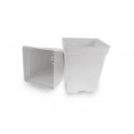 Pot carré plastique Blanc 11l