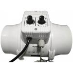Vents Extracteur de Gaine TTUN 125mm - 280m3 Variateur de vitesse et Thermostat