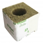 Cube Laine de roche 7.5x7.7x6.5cm gros trou Grodan