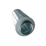 Silencieux métallique pour extracteur 125mm