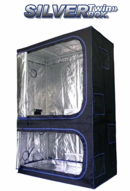 Twin box 90x60x200cm chambre de culture silverbox twin terre hydro culture - Chambre de culture double ...