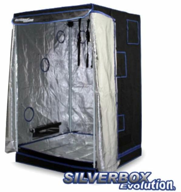 Silver box evolution 100x100x160cm chambre de culture interieur mylar growshop terre hydro - Chambre de culture double ...