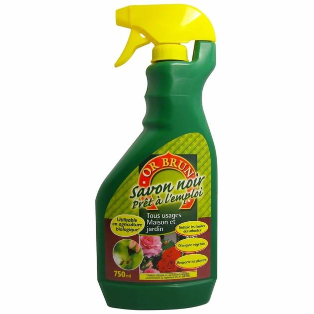 Savon noir or brun soins des plantes insecticide terre hydro culture - Savon noir pucerons dosage ...