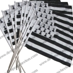 Lot 10 drapeaux 10x15cm sur hampe (remises quantitatives)