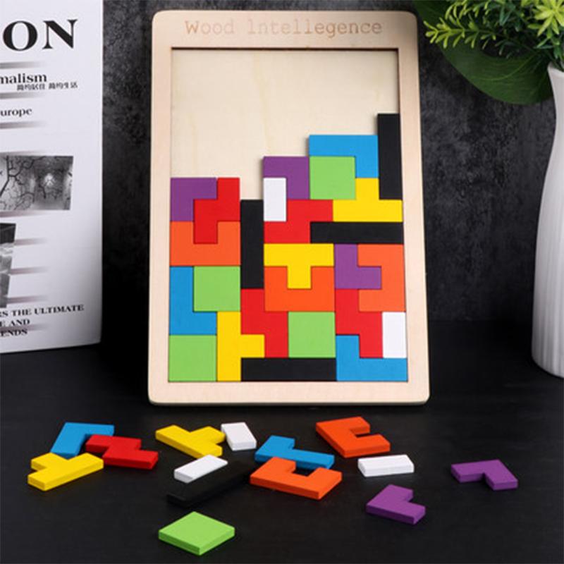 Puzzle en Bois Esprit Tetris