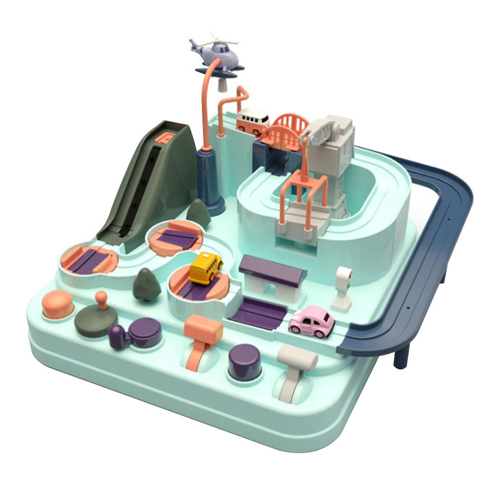 Petit circuit voiture Montessori Jouet Bomo en AbS couleurs pastels