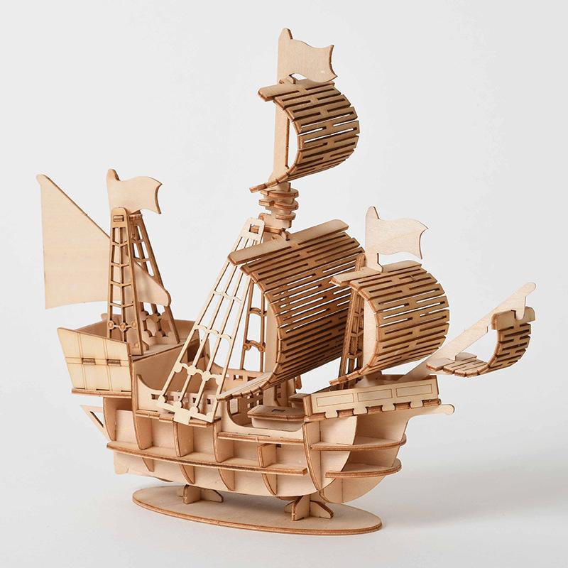 Puzzle 3D Bateau à voile en bois