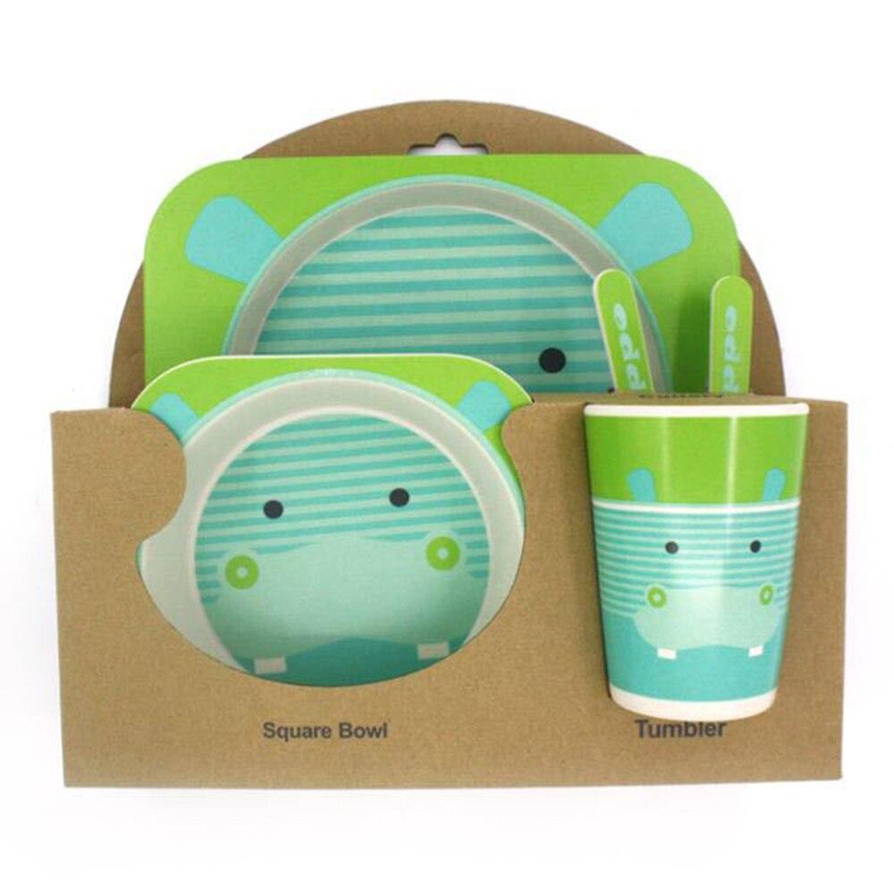 5-pcs-enfants-vaisselle-ensemble-cinq-pi-ces-bambou-naturel-Fiber-bol-avec-tasse-cuill-re