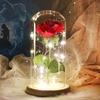 Rose eternelle sous dome en verre inspiré du conte de la Belle et la Bête de la boutique Jouet Bomo