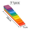 Jeu de construction arc-en-ciel jouet bomo - 11 planchettes couleurs vives
