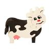 puzzle vache en bois artisanal