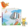 Livre d images interactif en bois, dans l'air , jouet bomo-small foot legler