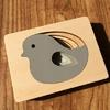 Puzzle-oiseau-Jouet-Bomo-Bois-Montessori-3D-Animaux pour enfants et bébés